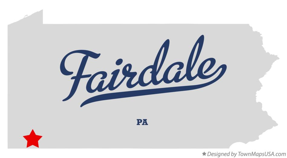 Map of Fairdale Pennsylvania PA