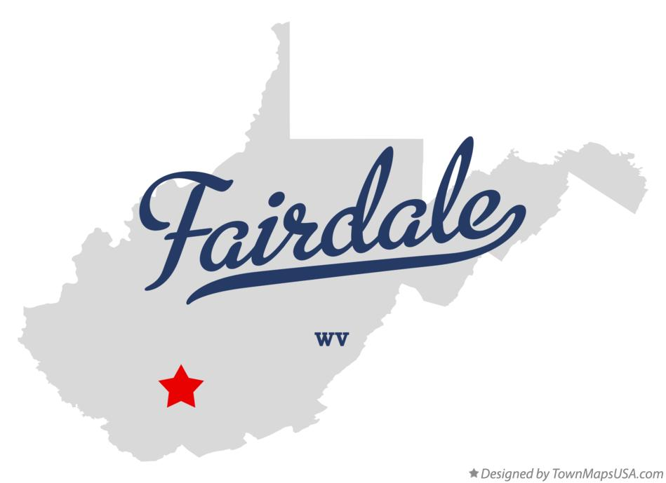 Map of Fairdale West Virginia WV