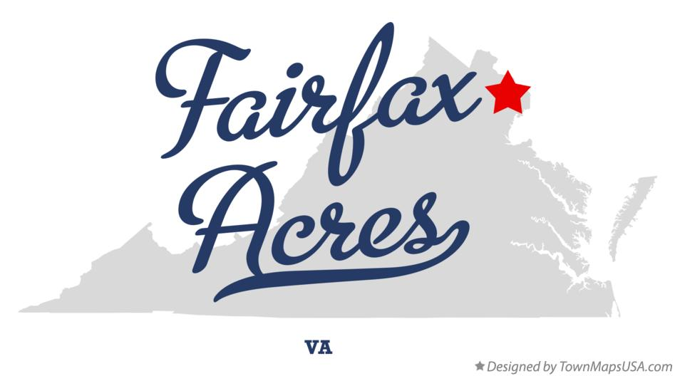 Map of Fairfax Acres Virginia VA