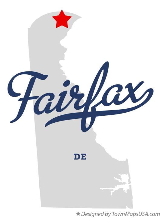 Map of Fairfax Delaware DE