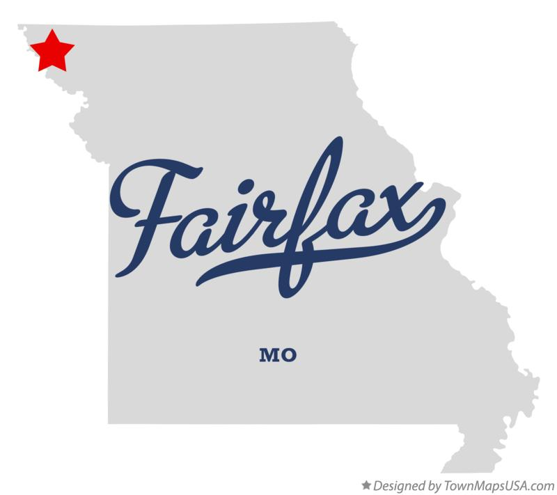 Map of Fairfax Missouri MO
