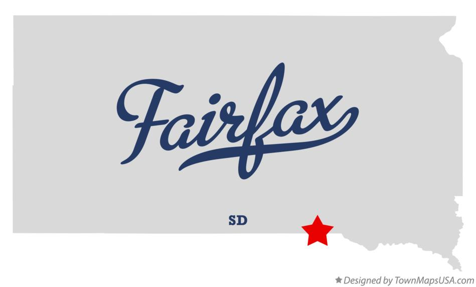 Map of Fairfax South Dakota SD