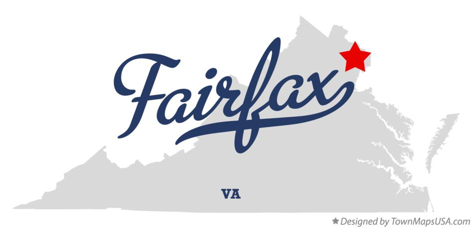 Map of Fairfax Virginia VA
