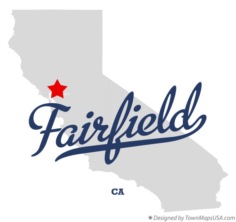 Map Of Fairfield Ca California