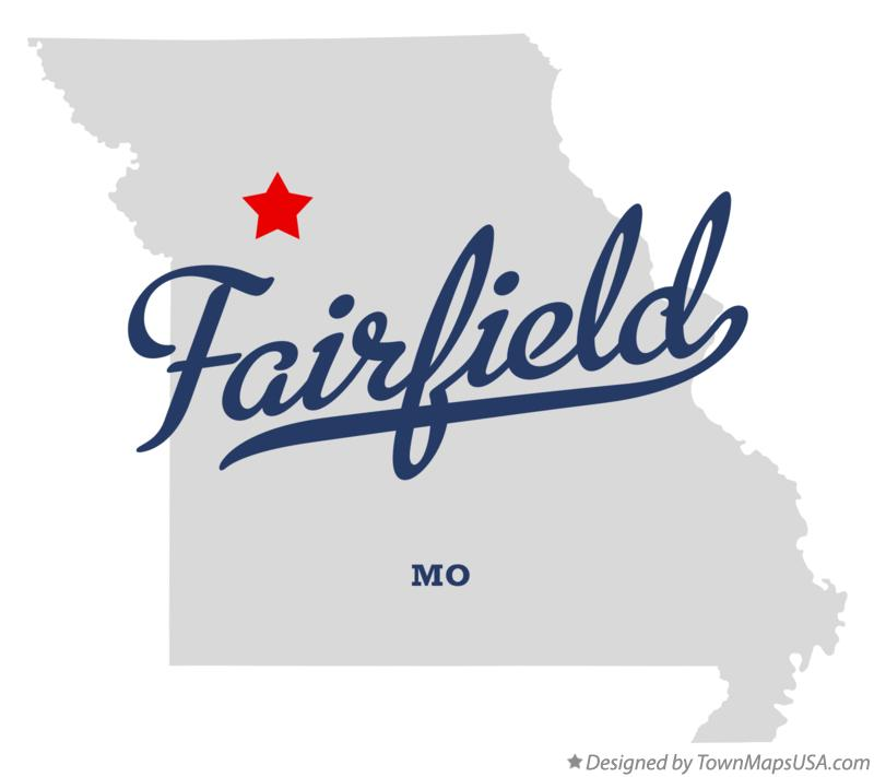 Map of Fairfield Missouri MO