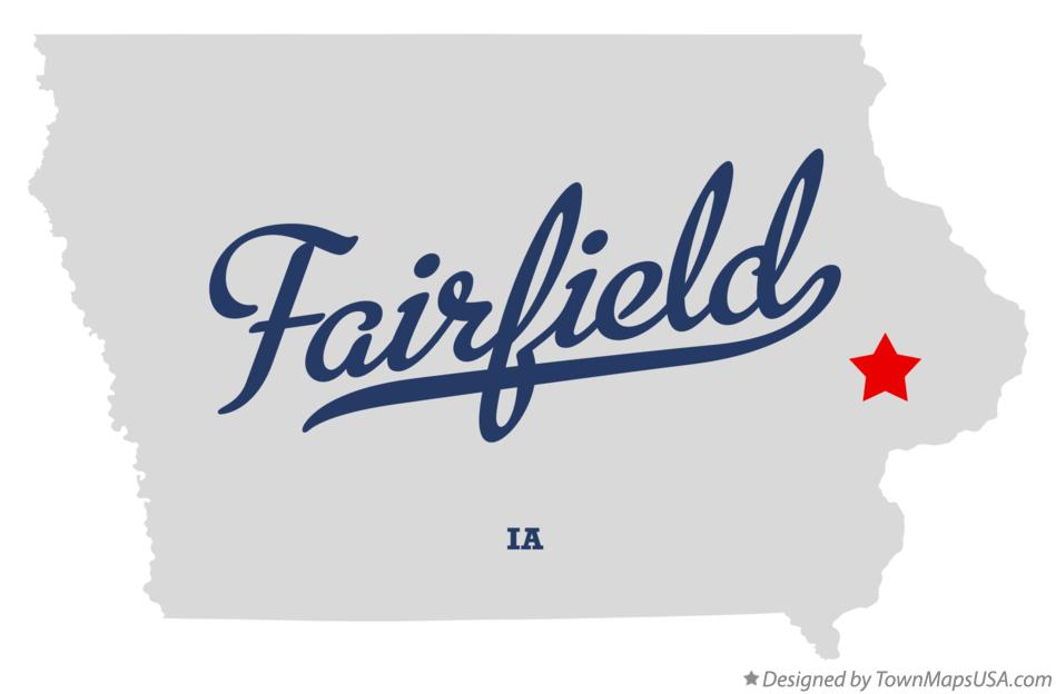 Map of Fairfield Iowa IA
