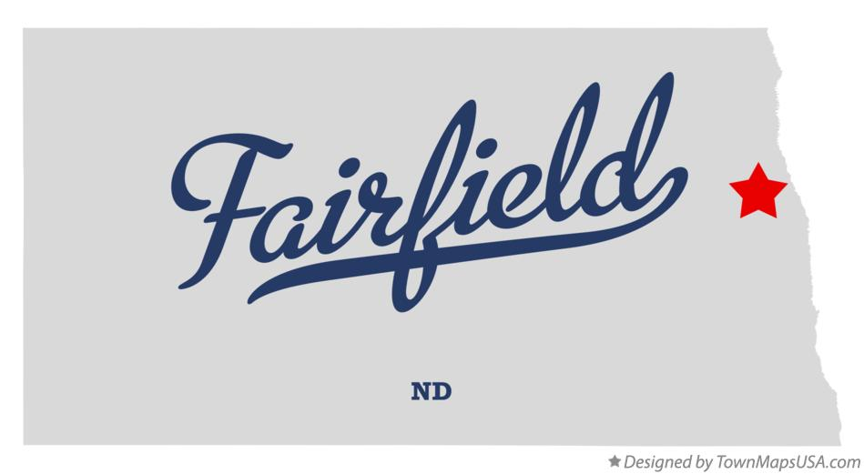 Map of Fairfield North Dakota ND