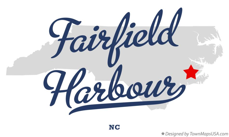 Map of Fairfield Harbour North Carolina NC