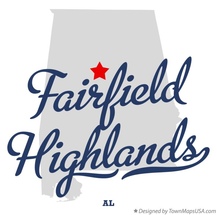 Map of Fairfield Highlands Alabama AL