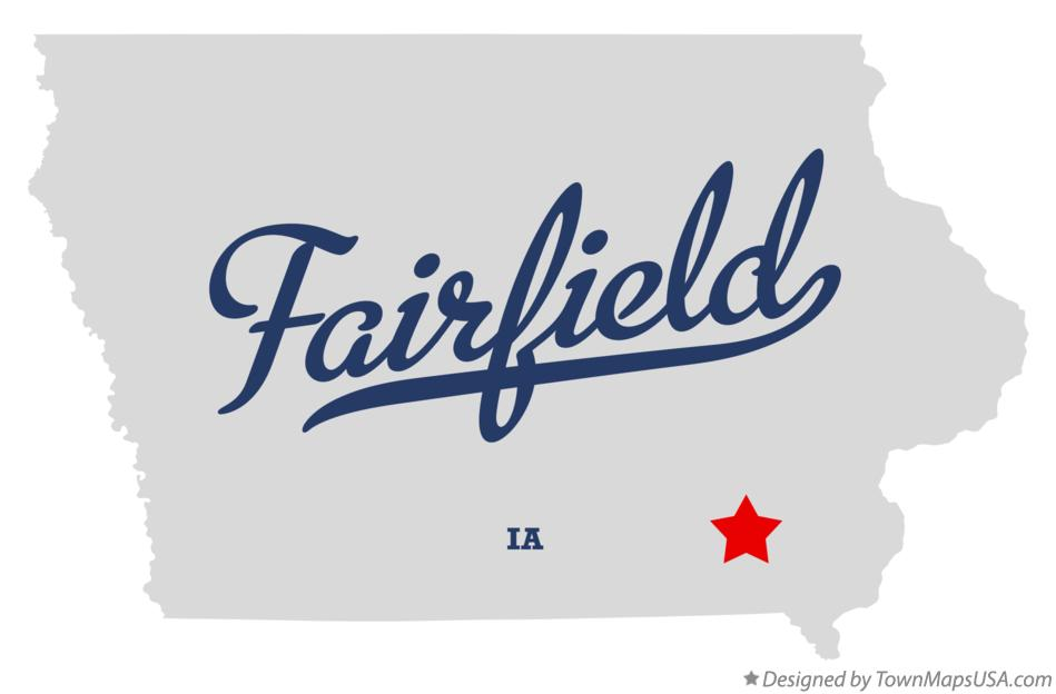 Map Of Fairfield Jefferson County Ia Iowa