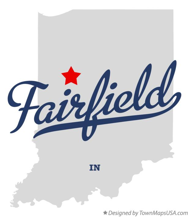 Map of Fairfield Indiana IN