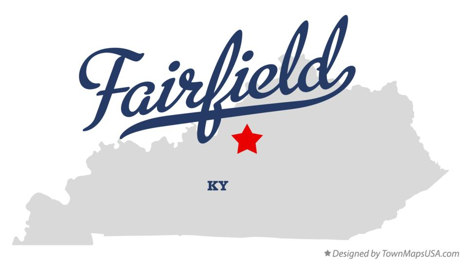 Map of Fairfield Kentucky KY