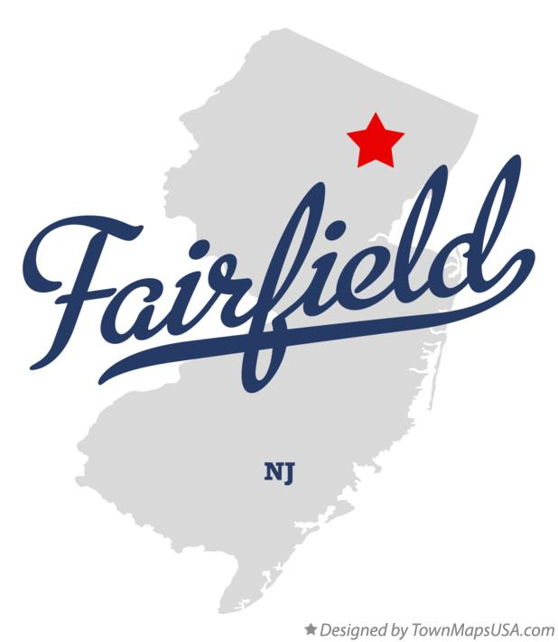 Map of Fairfield New Jersey NJ