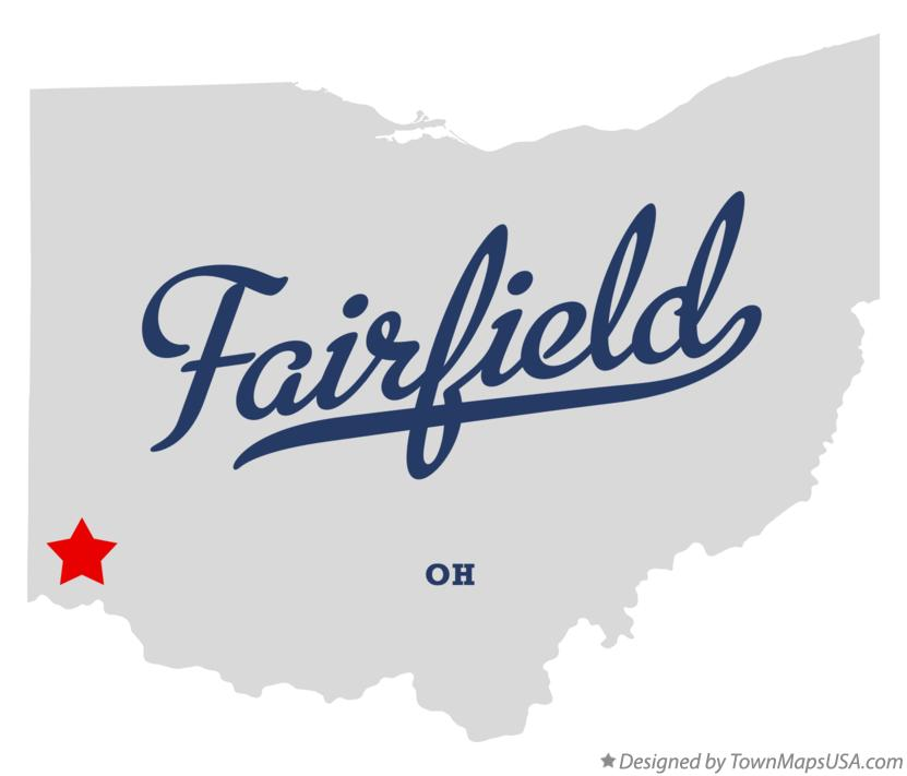 Map of Fairfield Ohio OH