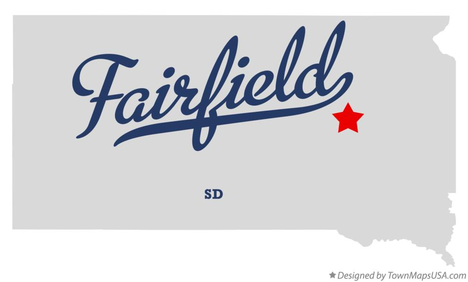 Map of Fairfield South Dakota SD