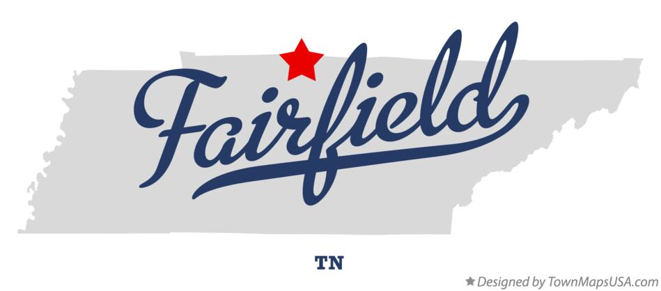 Map of Fairfield Tennessee TN