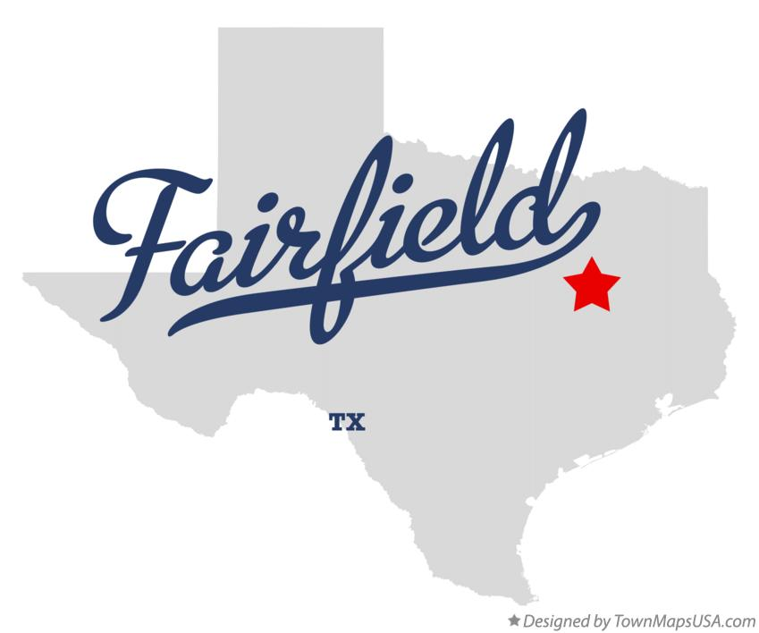 Map of Fairfield Texas TX