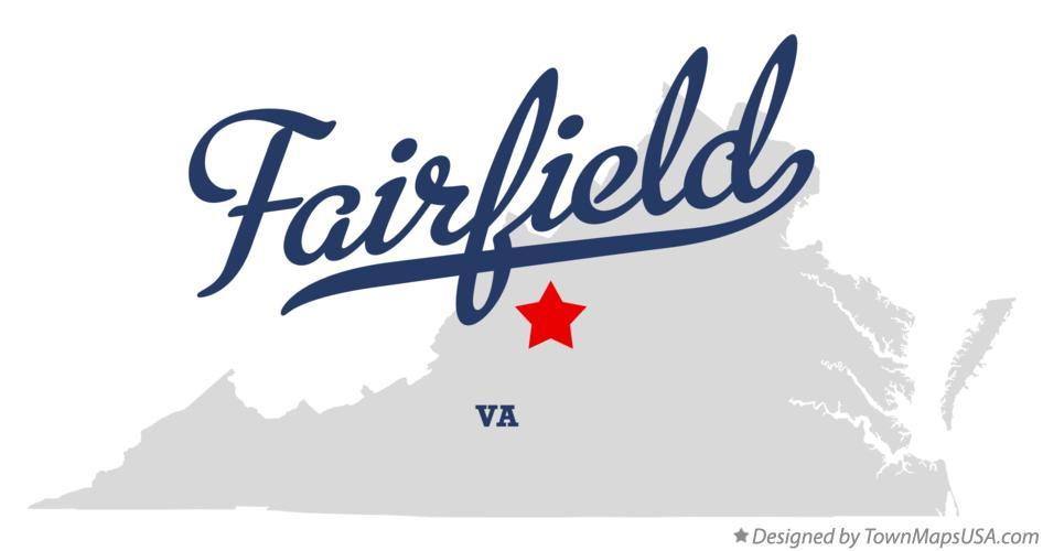 Map of Fairfield Virginia VA