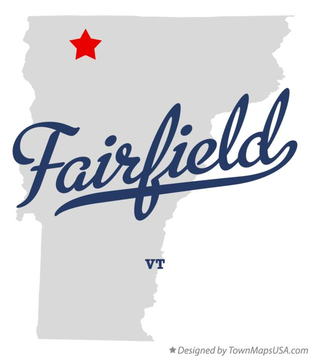 Map of Fairfield Vermont VT