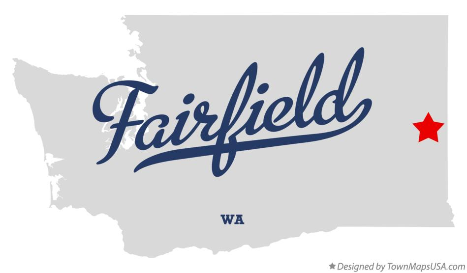 Map of Fairfield Washington WA