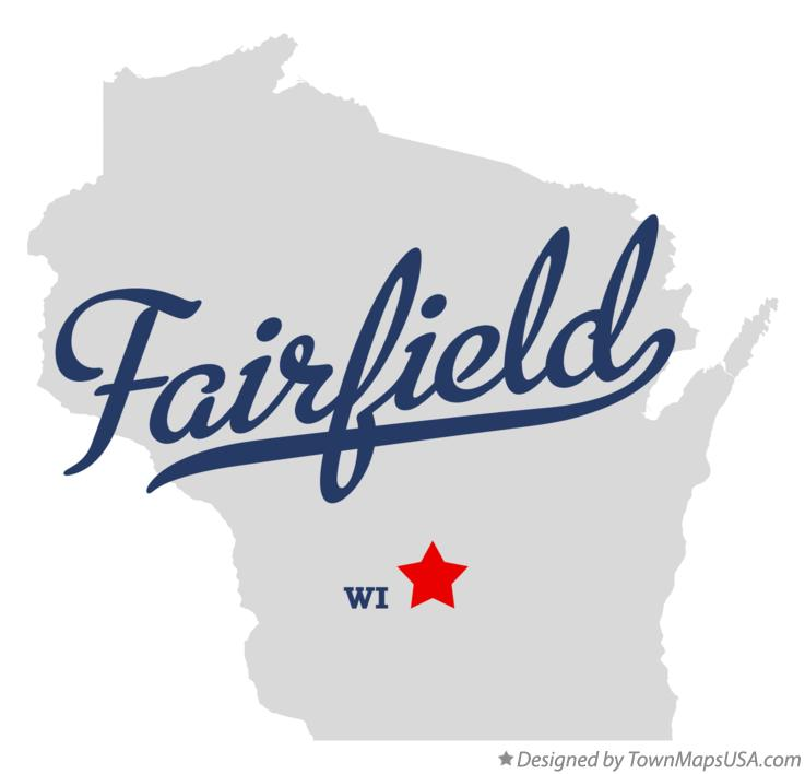 Map of Fairfield Wisconsin WI