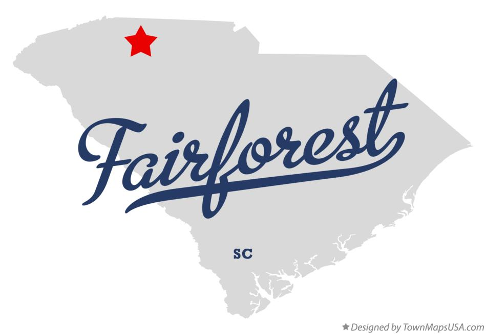 Map of Fairforest South Carolina SC