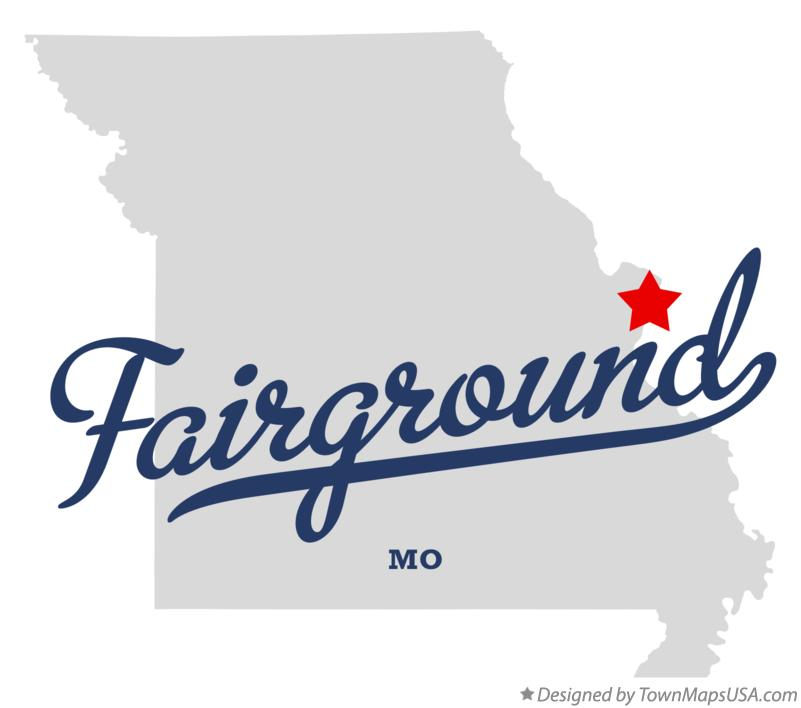 Map of Fairground Missouri MO