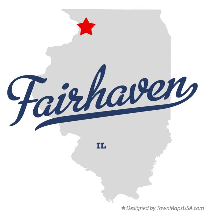 Map of Fairhaven Illinois IL