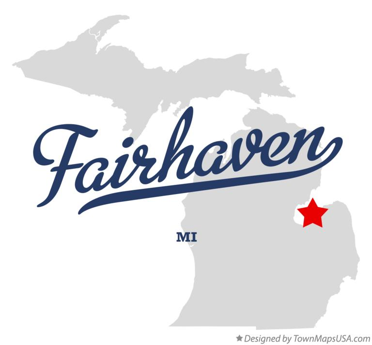 Map of Fairhaven Michigan MI