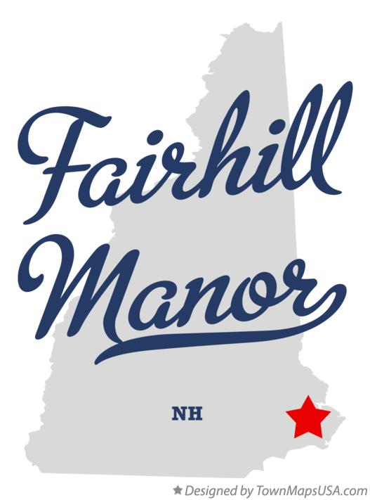 Map of Fairhill Manor New Hampshire NH