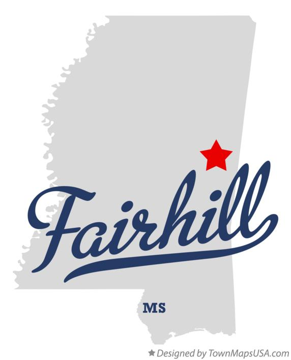 Map of Fairhill Mississippi MS