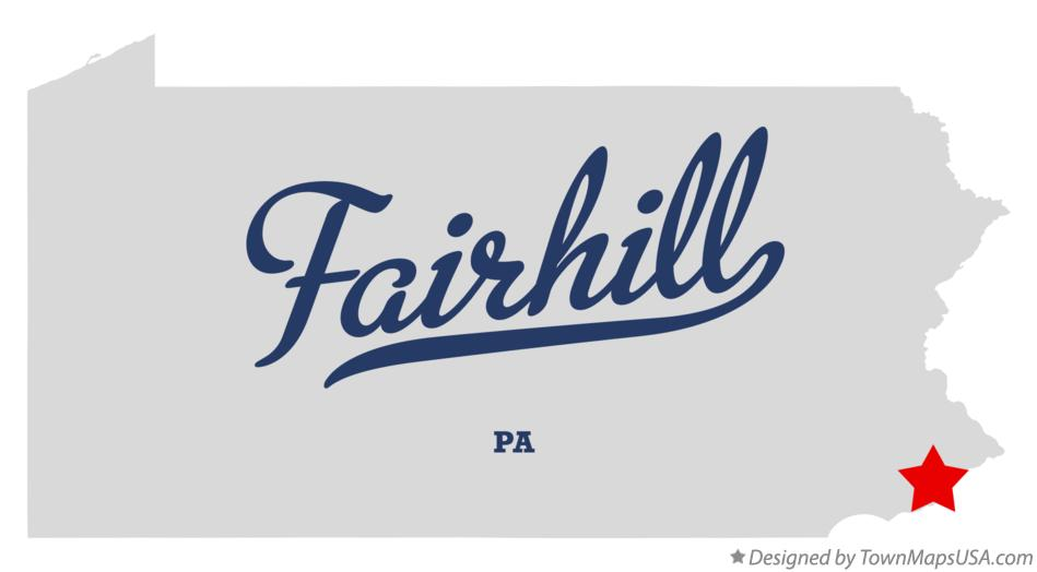 Map of Fairhill Pennsylvania PA