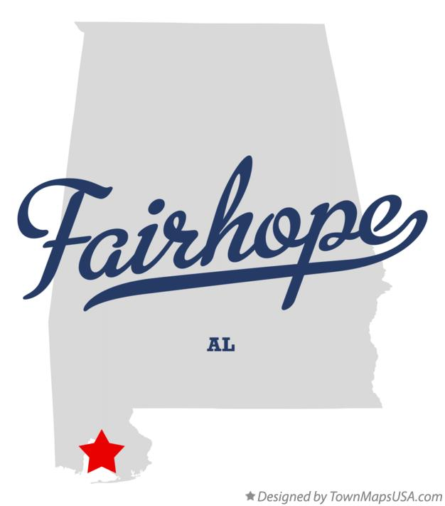 Map of Fairhope Alabama AL