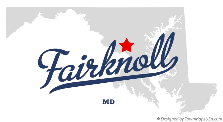 Map of Fairknoll Maryland MD