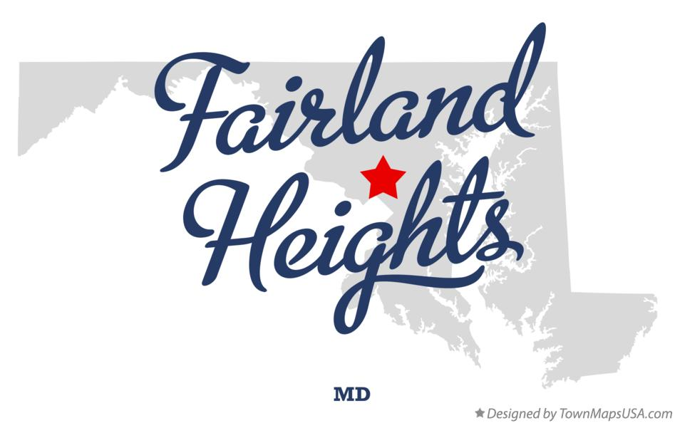 Map of Fairland Heights Maryland MD