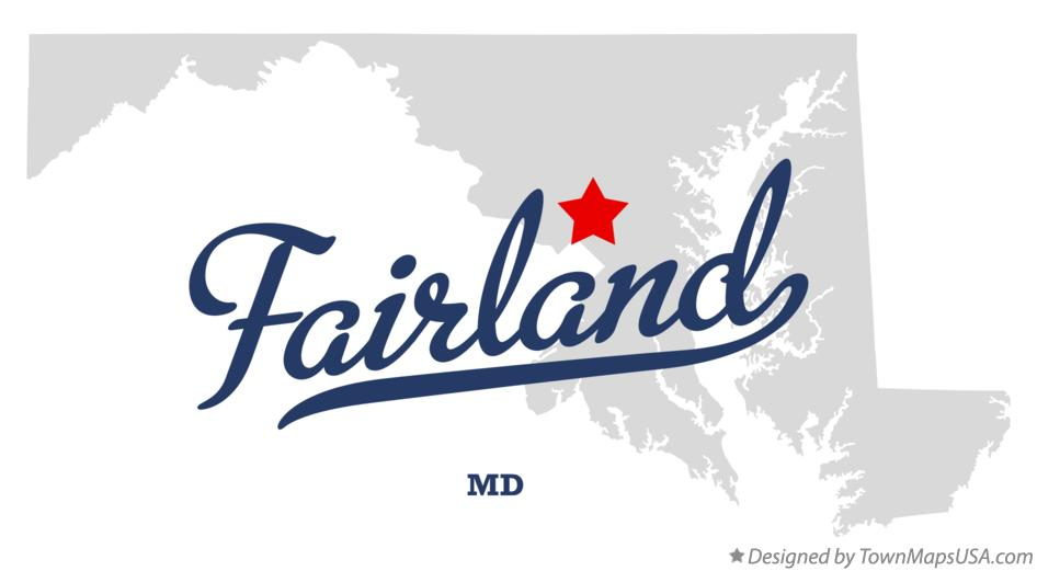 Map of Fairland Maryland MD