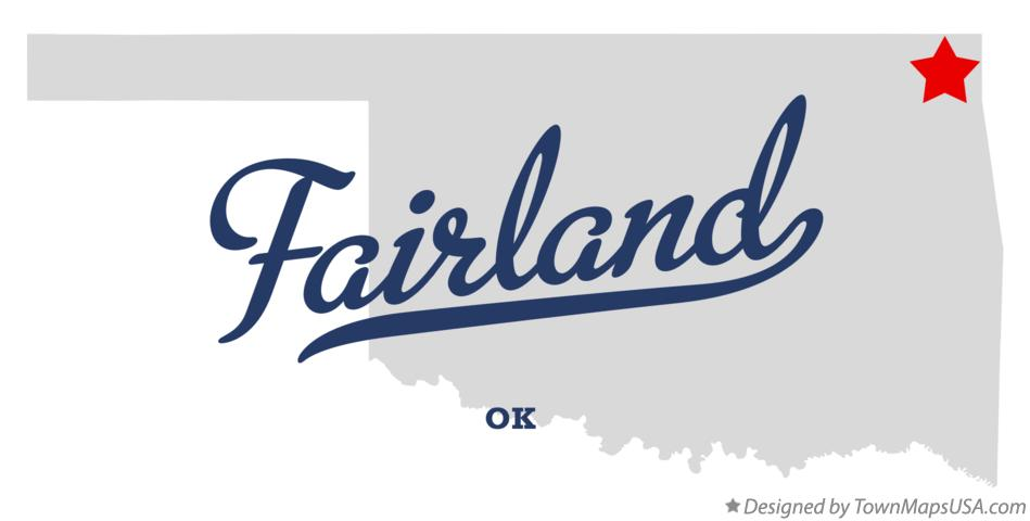 Map of Fairland Oklahoma OK