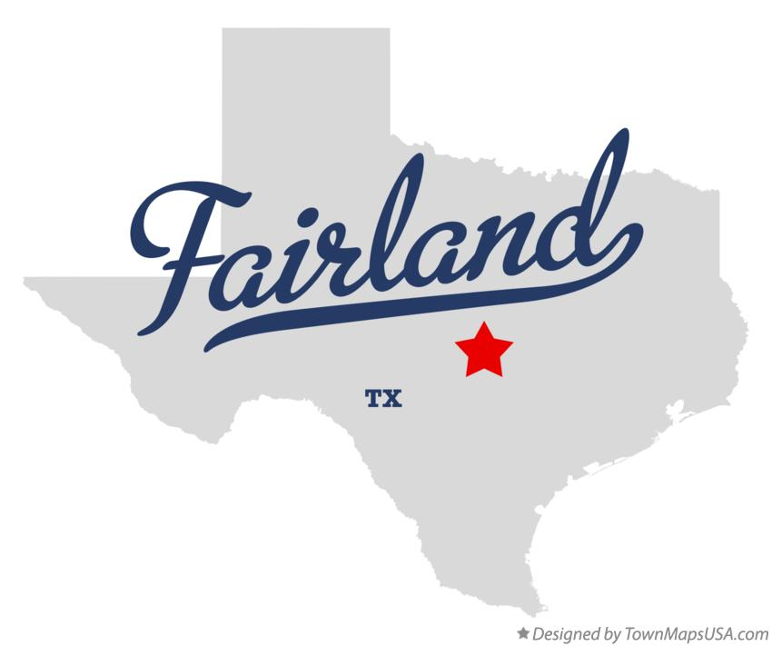 Map of Fairland Texas TX