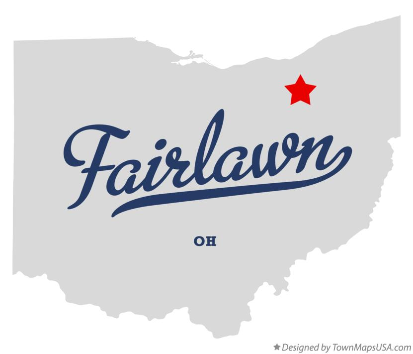 Map of Fairlawn Ohio OH
