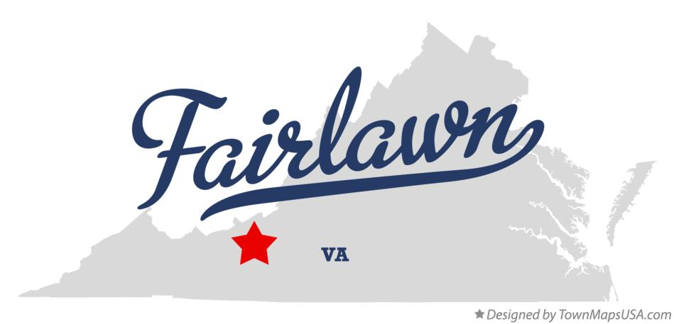 Map of Fairlawn Virginia VA