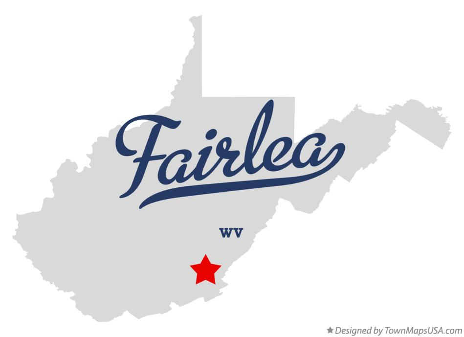 Map of Fairlea West Virginia WV