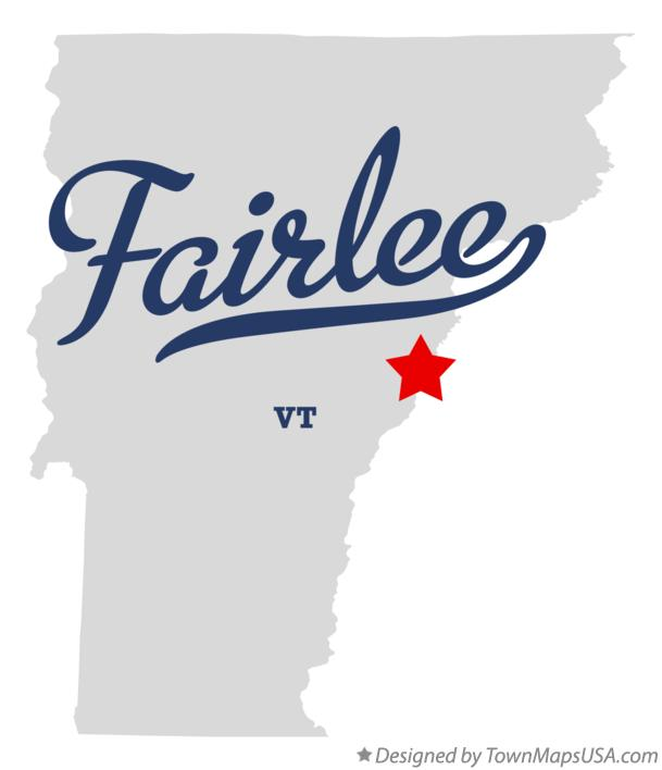 Map of Fairlee Vermont VT
