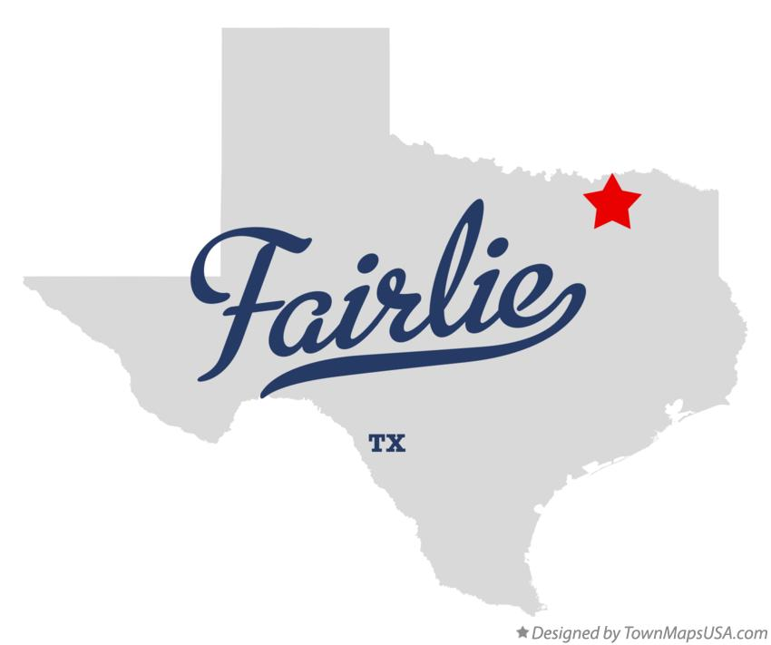 Map of Fairlie Texas TX