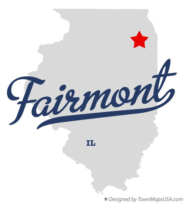 Map of Fairmont Illinois IL