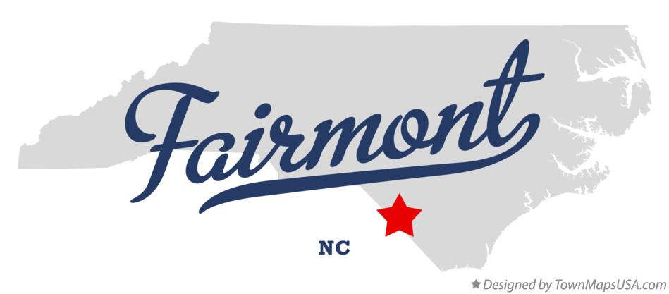 Map of Fairmont North Carolina NC