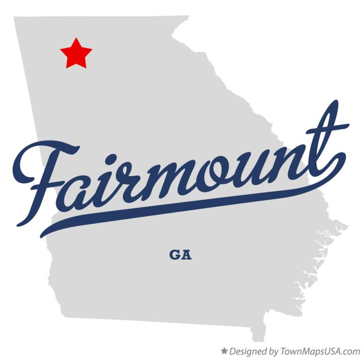 Map of Fairmount Georgia GA