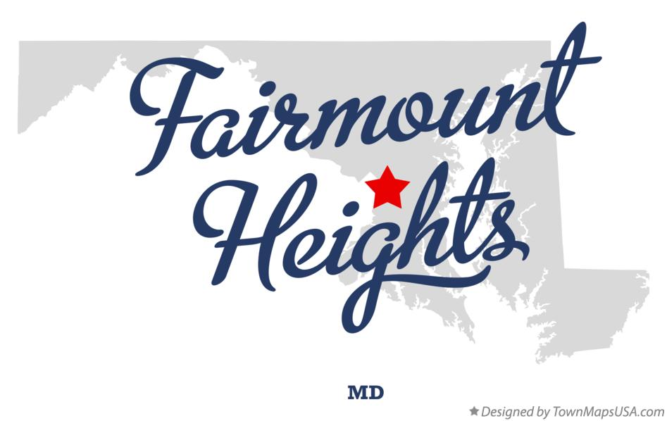 Map of Fairmount Heights Maryland MD