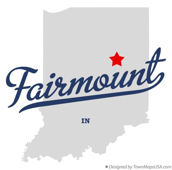 Map of Fairmount Indiana IN