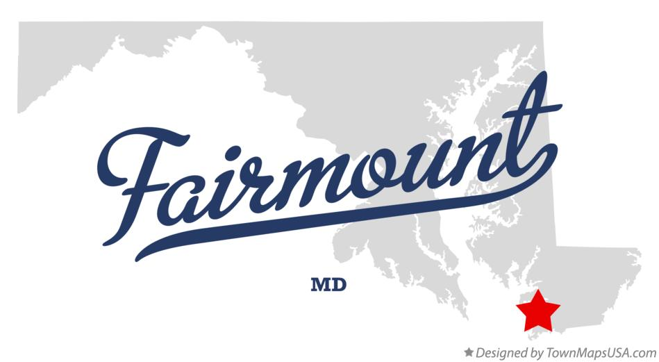 Map of Fairmount Maryland MD