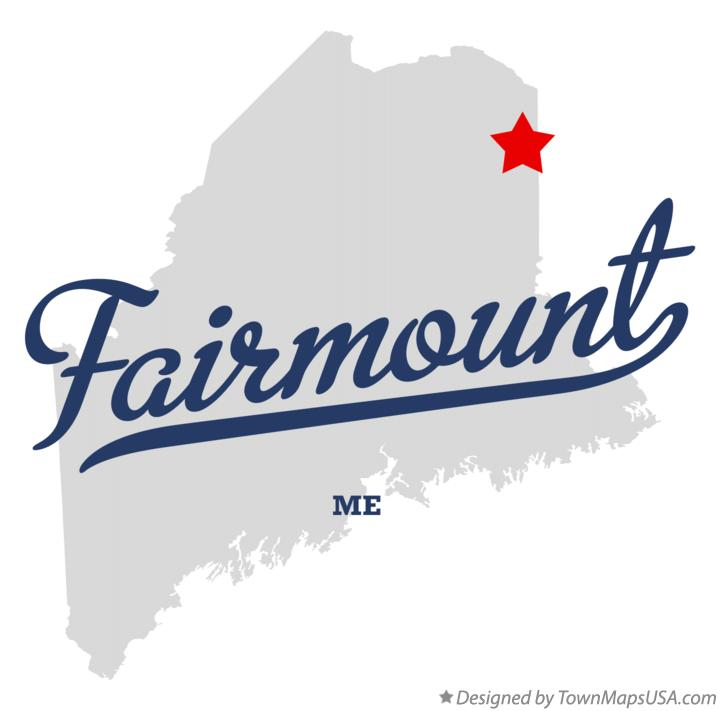 Map of Fairmount Maine ME